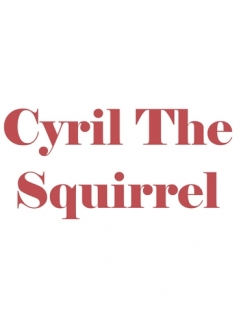 Laminated Cyril The Squirrel Title